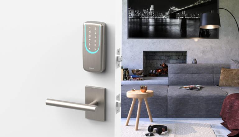 SGUDA NEW Smart WiFi & Bluetooth Deadbolt Door Lock. The understood look of the SGUDA lock ensures that it will look great with most types of doorknobs.