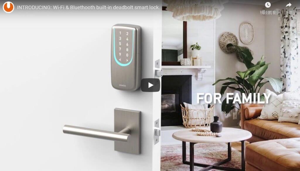 SGUDA NEW Smart WiFi & Bluetooth Deadbolt Door Lock- family. office and hotel