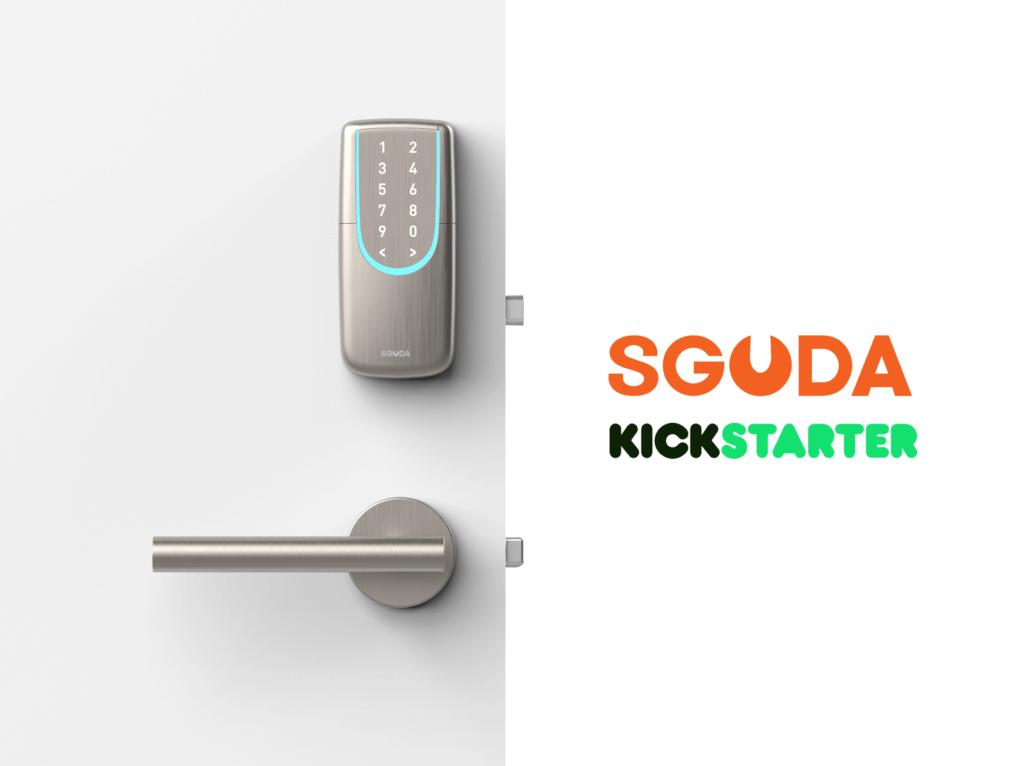 SGUDA: Wifi & Bluetooth Built-in Smart Deadbolt Door Lock ON KICKSTARTER